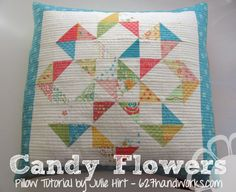 Candy Flowers Pillow - Moda Bake Shop