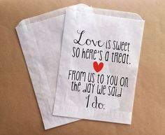 Wedding Gift Bag Sayings : ... Bags Wedding Favor Bags Wedding I do Custom Favor Bag on Etsy, USD25.00