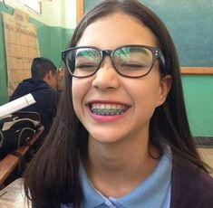 girls with braces and glasses ~ girls with braces . girls with braces pretty . girls with braces and glasses . girls with braces aesthetic . girls with braces colors . girls with braces pretty white . girls with braces memes . girls with braces mexican Cute Braces Colors, Cute Girls With Braces, Kids Braces, Dental Braces, Dental Care, Braces Smile, Teeth Braces, Braces And Glasses, Girls With Glasses