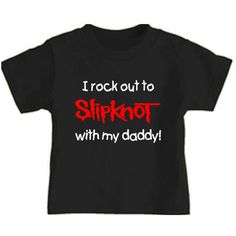 wRb rock out to slipknot toddler kids tee shirt clothes childrens band... (68 BRL) ❤ liked on Polyvore featuring baby and kids