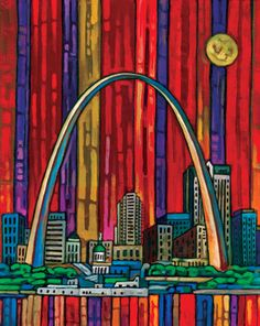 St Louis Arch.  I just saw this artist's reproductions at an art fair in Michigan.  I LOVED all of her work.