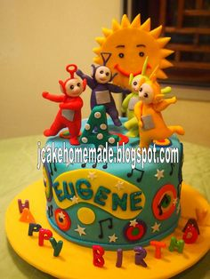 Teletubbies birthday cake by Jcakehomemade, via Flickr