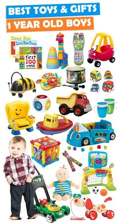 Parents save this list! See over 200+ gift ideas for a 1 year old boy.