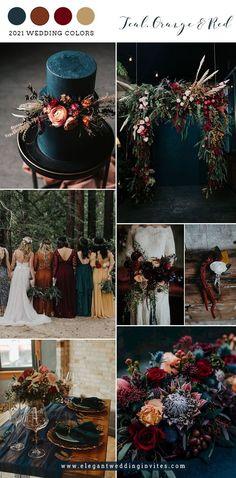 Wedding Wishes, Our Wedding, Dream Wedding, Wedding Ideas, Dark Red Wedding, Bohemian Wedding Theme, Fall Wedding Decorations, Wedding Trends, Fall Wedding Colors