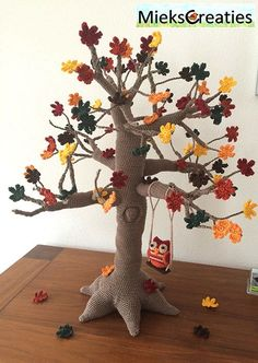 Tree 4 seasons amigurumi crochet pattern by MieksCreaties More