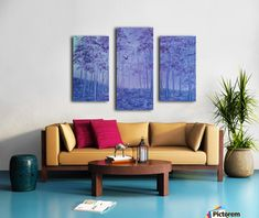Paradise Sunset Textured Triptych by Studio 212 3 Piece Painting Print on Canvas Set Canvas Artwork, Canvas Art Prints, Painting Prints, Oil Paintings, Abstract Paintings, 3 Piece Painting, Colourful Living Room, Art For Sale Online, Fancy Houses