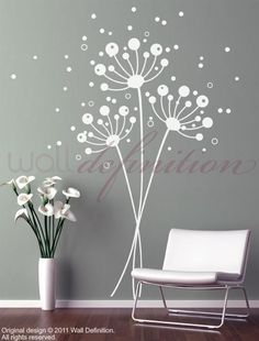 With some added color, could be a great alternative to a tree wall mural in the nursery!
