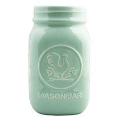 mint mason jar.. right up my alley via @Waiting On Martha