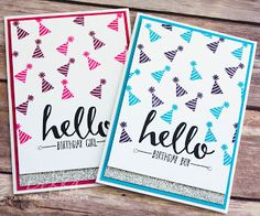Stampin' Up! UK Feeling Crafty - Bekka Prideaux Stampin' Up! UK Independent Demonstrator: Hello Birthday Girls and Boys