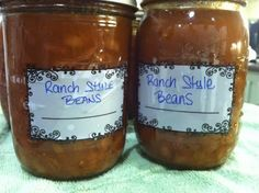 Canning Homemade!: Canning Ranch Style Beans