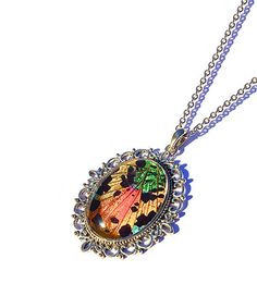 Look what I found on #zulily! Rainbow Real Moth Wing Embellished Pendant Necklace #zulilyfinds