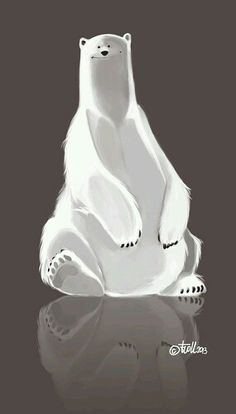 Beautiful polar bear art.