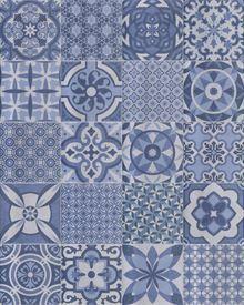 Codicer Retro Mix Azul - Vlagsma Tegelwalhalla Pop Art, Art Deco, Ceramics, Retro, Blanket, Rugs, Home Decor, Toilet, 3d