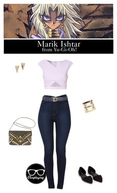 """Marik Ishtar from Yu-Gi-Oh!"" by closplaying on Polyvore featuring Akira, Glamorous, Salvatore Ferragamo, Wet Seal, Alexis Bittar, Nly Shoes, Avenue, women's clothing, women's fashion and women"