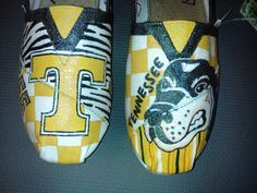 University of Tennessee hand painted TOMS by MyHeartToYourSole, $105.00  @Lyndsey Bible OMG