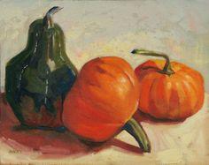 Autumn Pumpkin and Squash Still Life Oil Painting