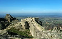 The wall of Monsanto Castle. Portugal.