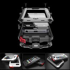 Waterproof Shockproof Aluminum Gorilla Metal Cover Case for iPhone 5S 5 4 4S