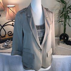 Elizabeth And James Gorgeous Taupe Silk Jacket