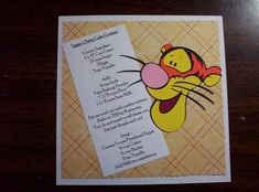 Tigger`s Patty Cake Cookies Disney Recipe Swap by tillymae - Cards and Paper Crafts at Splitcoaststampers Retro Recipes, Old Recipes, Cookbook Recipes, Vintage Recipes, Disney Dishes, Disney Desserts, Disney Drinks, Disney Inspired Food, Gastronomia