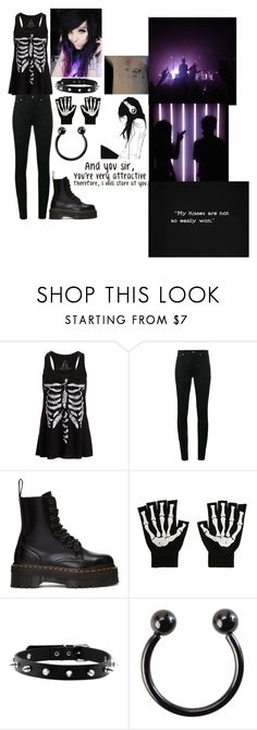"""""""And you sir, you're very attractive. Therefore, I will stare at you."""" by monkeyloverlife ❤ liked on Polyvore featuring Yves Saint Laurent, Dr. Martens, Hot Topic and GET LOST"""