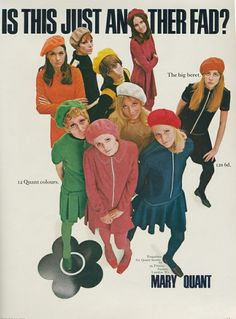 Mary Quant and Her Chelsea Girls Swing Into London¡¯s V&A Museum - Vogue 60s And 70s Fashion, Fashion Mag, Mod Fashion, Trendy Fashion, Vintage Fashion, Fashion Design, Gothic Fashion, London Fashion, Fashion Bloggers