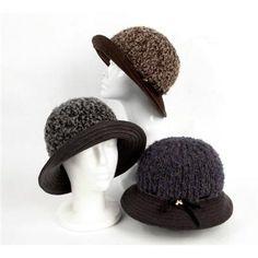 WOOL Warm Bucket hat Women's bowler hats