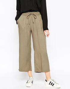 Image 4 ofASOS Wide Leg Cropped Trousers