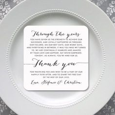 Printable Wedding Reception Thank You Card Style Ty74 Shell Collection