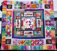 Epic Anna Maria Horner Medallion: A Finished Quilt (At Long Last) | Quilty Habit | Bloglovin'