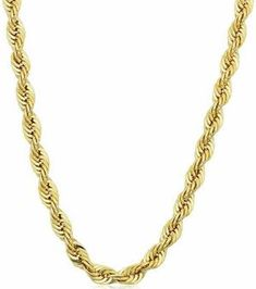 a0c614edd722 14k Yellow Gold Filled Mens 4.2mm Rope Chain Necklace