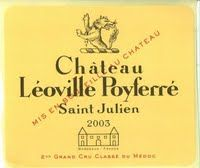 Chateau Leoville Poyferre, Saint-Julien, France label