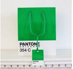 Pantone Gift Bag/Tag in green