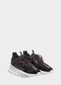 ea24adec1d8 Versace Chain Reaction Sneakers - Black for Men