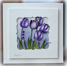 WT416 Tulips by Biggan - Cards and Paper Crafts at Splitcoaststampers