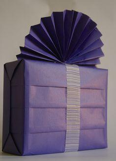 Purple pleated boxPurple pleated box