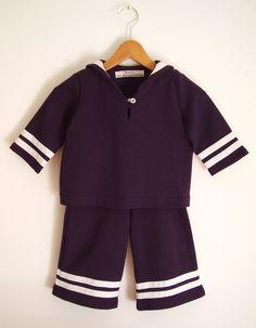 Baby-Anzug im Maritim-Look / baby suit by Benditz via DaWanda.com
