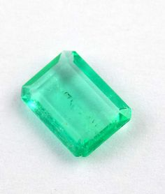 1 Pcs Natural Emerald Rectangle 6x8mm 1.22Cts Emerald Cut Handmade Rare Gemstone