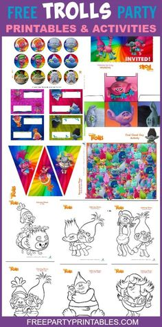 Free Trolls Party Printables Set – Free Party Printables