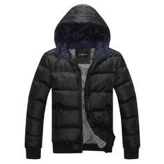 Black Polyester Cotton Padded Coat  $ 14.58