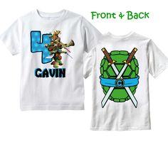 Mutant Ninja Turtles T-Shirt ~ TMNT Birthday Shirt PERSONALIZED ~ Front & Back by TheMemoryMakers on Etsy https://www.etsy.com/listing/225125552/mutant-ninja-turtles-t-shirt-tmnt