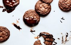 Glazed Chocolate–Crème Fraîche Cookies Otherwise known as the triple-threat chocolate cookie: melted, chopped, and drizzled.