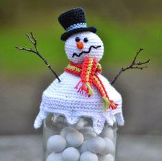 Danish pattern melting snowman