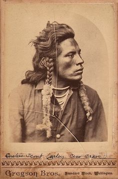 Portrait of Curley (Ashishishe), a Crow scout for the United States Army during the Sioux Wars and witness to (and one of the few American-allied survivors of) the Battle of Little Bighorn, Wellington, Colorado, United States, 1879, photograph by Gregson Brothers.