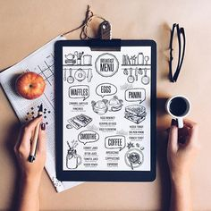 Kết quả hình ảnh cho modern coffee menu design