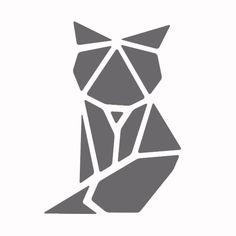 Pochoir statique Renard origami - Pochoir verre, pocelaine... - DTM