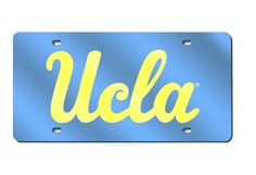 UCLA Bruins Blue Mirrored Laser Cut License Plate Laser Tag