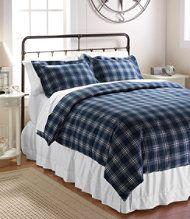Ultrasoft Comfort Flannel Comforter Cover, Windowpane