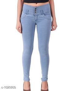 Jeans Stylish Denim Women's Jeans Fabric: Denim  Waist Size: S- 28 in M- 30 in L- 32 in XL- 34 in  XXL - 36 in  Length: Up To 40 in  Type: Stitched Description: It Has 1 Piece Of Women's Denim Jeans Work: Solid Country of Origin: India Sizes Available: 28, 30, 32, 34, 36 *Proof of Safe Delivery! Click to know on Safety Standards of Delivery Partners- https://ltl.sh/y_nZrAV3  Catalog Rating: ★4.1 (9922)  Catalog Name: Alyssa Stylish Denim Womens Jeans Vol 1 CatalogID_123166 C79-SC1032 Code: 504-1020909-