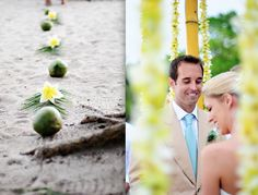 tropical wedding ceremony For more tropical and beach wedding ceremony decoration ideas visit http://www.beachwedding-guide.com/beach-wedding-ceremony-decor.html